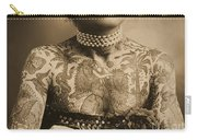 Portrait Of A Tattooed Woman Carry-all Pouch