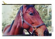 Portrait Of A Thoroughbred Carry-all Pouch