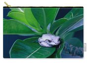 Portrait Of A Tree Frog Carry-all Pouch