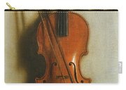Portrait Of A Violin Carry-all Pouch