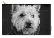 Portrait Of A Westie Dog 8x10 Ratio Carry-all Pouch
