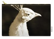 Portrait Of A White Peacock Carry-all Pouch