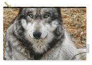 Portrait Of A Wolf Carry-all Pouch