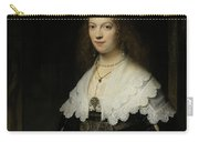 Portrait Of A Woman - Possibly Maria Trip Carry-all Pouch