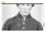 Portrait Of A Young  Civil War Soldier 4 Carry-all Pouch