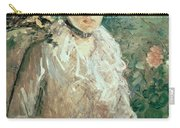 Portrait Of A Young Lady Carry-all Pouch by Berthe Morisot
