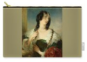 Portrait Of A Young Woman Carry-all Pouch