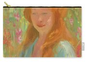 Portrait Of A Young Women In Garden 1912 Carry-all Pouch