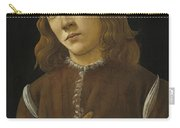 Portrait Of A Youth Carry-all Pouch