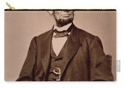 Portrait Of Abraham Lincoln Carry-all Pouch by Mathew Brady
