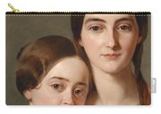 Portrait Of Alexandrine Pazzani And Her Cousin Caroline Von Saar According To Family Tradition Carry-all Pouch