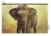 Portrait Of An Elephant Digital Painting With Detailed Texture Carry-all Pouch