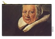 Portrait Of An Old Woman 1645 Carry-all Pouch