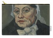 Portrait Of An Old Woman Antwerp December 1885 Vincent Van Gogh 1853  1890 Carry-all Pouch