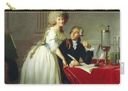 Portrait Of Antoine-laurent Lavoisier And His Wife Carry-all Pouch