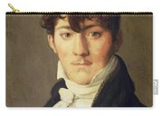 Portrait Of Auguste Francois Talma Ensign Nephew Of The Tragedian Talma Carry-all Pouch