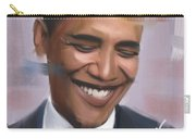 Portrait Of Barack Obama Carry-all Pouch