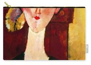 Portrait Of Beatrice Hastings Before A Door 1915 Carry-all Pouch
