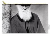 Portrait Of Charles Darwin Carry-all Pouch by Julia Margaret Cameron