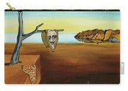 Portrait Of Dali The Persistence Of Memory Carry-all Pouch