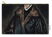 Portrait Of Dr. Francisco De Pisa Carry-all Pouch