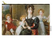 Portrait Of Elizabeth Lea And Her Children Carry-all Pouch by John Constable