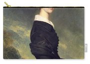 Portrait Of Francisca Caroline De Braganca Carry-all Pouch by Franz Xaver Winterhalter
