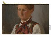 Portrait Of Gunild Olsdatter From Tinn Carry-all Pouch