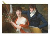 Portrait Of Jean-louis Gustave D'hautefort And His Sister Marie-therese-thais D'hautefort Carry-all Pouch