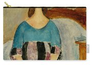 Portrait Of Jeanne Hebuterne Carry-all Pouch by Amedeo Modigliani
