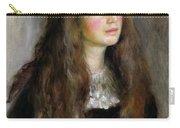 Portrait Of Julie Manet  Carry-all Pouch by Pierre Auguste Renoir