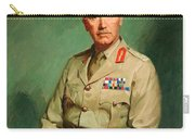Portrait Of Lieutenant - General The Honorable Sir Edmund Herring Carry-all Pouch