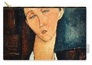Portrait Of Lunia Czechowska Carry-all Pouch by Amedeo Modigliani