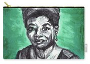 Portrait Of Maya Angelou Carry-all Pouch