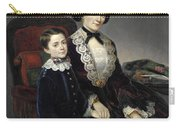 Portrait Of Mother And Son Carry-all Pouch