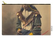 Portrait Of Oglala Sioux Council Chief Bone Necklace Carry-all Pouch