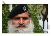 Portrait Of Pakistani Security Guard With Flowing White Beard Karachi Pakistan Carry-all Pouch