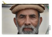 Portrait Of Pathan Tuk Tuk Rickshaw Driver Peshawar Pakistan Carry-all Pouch