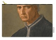Portrait Of Piero Soderini Half Length Wearing A Black Coat And A Black Hat Carry-all Pouch