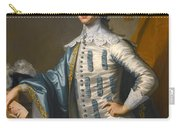 Portrait Of Sir James Lowther 1st Earl Of Lonsdale Three Quarter Length Holding A Mask In His Right  Carry-all Pouch