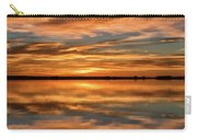 Portrait Of Sunrise Reflections On The Great Plains Carry-all Pouch