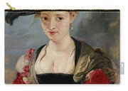 Portrait Of Susanna Lunden Carry-all Pouch by Peter Paul Rubens