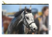 Portrait Of The Grey Race Horse Carry-all Pouch
