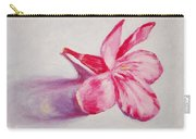 Portrait Of The Kaneri Flower. Oleander Carry-all Pouch