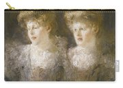 Portrait Of Two Ladies Carry-all Pouch