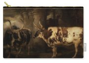Portrait Of Two Oxen - The Property Of The Earl Of Powis Carry-all Pouch