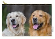 Portrait Of Two Young Beauty Dogs Carry-all Pouch