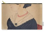 Portrait Of Woman In Black Dress Carry-all Pouch