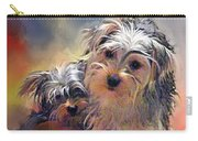 Portrait Of Yorkshire Terrier Puppy Dogs Carry-all Pouch