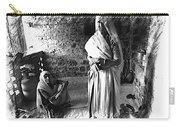 Portrait Sisters Village Elders Seniors Indian Rajasthani Bnw 2a Carry-all Pouch